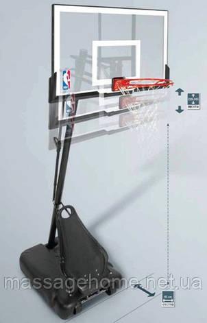 """Баскетбольная стойка Spalding Gold 48"""" Rectangle Acrylic, фото 2"""