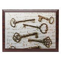Ключница 15х20 см 020047 коричневая, фото 1