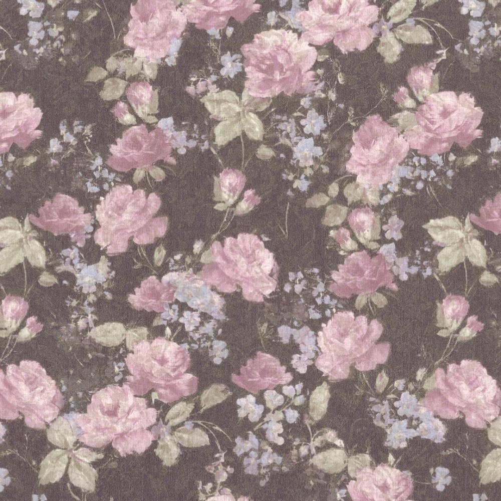 Обои на флизелиновой основе AS CREATION 36386-4  розово-голубые цветы 1,06м * 10,05м