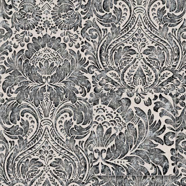 Обои на флизелиновой основе Sintra 362549  Чёрно-серый узор  1.06*10.05м