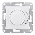 Светорегулятор, 25-325 Вт, проходной, поворотно-нажимной, Sedna белый, SDN2200521