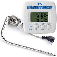 Кухонный/лабораторный термометр/таймер KTJ TA-238 с щупом иглой