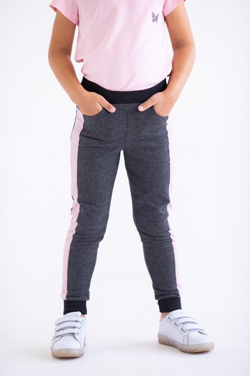 Штаны для девочек - G-20149W_антрацит (размеры 98-122)