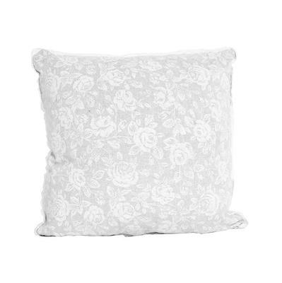 Подушка декоративная white Rose с кружевом 40х40 см