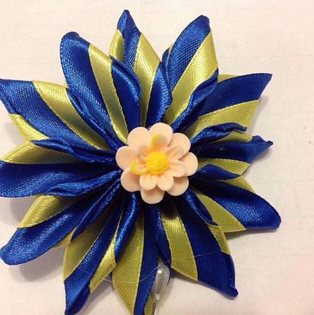 Магнит Патриотический  №1 желто-голубой