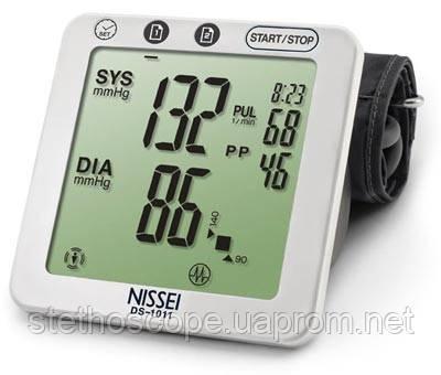 Автоматический планшетный тонометр на плечо NISSEI DS-1011 индикатор аритмии с адаптером, манжета 22-32 см.