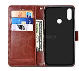 Чехол - книжка для Xiaomi Redmi Note 9 с силиконовым бампером и отделением для карточек Цвет Коричневый, фото 3