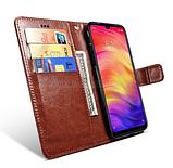 Чехол - книжка для Xiaomi Redmi Note 9 с силиконовым бампером и отделением для карточек Цвет Коричневый, фото 2