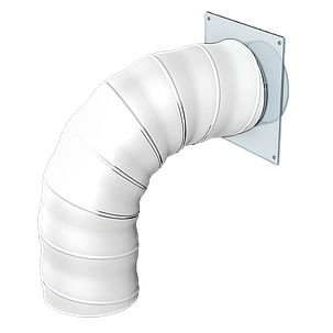 Повітропровід круглий Ера гнучкий армований 150 мм х 1 м (60-316), фото 2