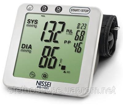 Автоматический планшетный тонометр на плечо Nissei DS-1031 большая манжета 22-42 см.  индикатор аритмии