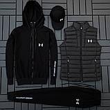 Ander Armour мужской черный спортивный костюм осень-весна!Комплектом дешевле!, фото 3