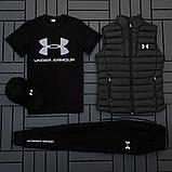 Ander Armour мужской черный спортивный костюм осень-весна!Комплектом дешевле!, фото 4