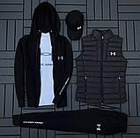 Ander Armour мужской черный спортивный костюм осень-весна!Комплектом дешевле!, фото 2