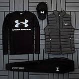 Ander Armour мужской черный спортивный костюм осень-весна!Комплектом дешевле!, фото 6