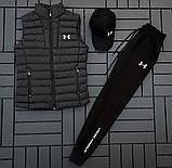 Ander Armour мужской черный спортивный костюм осень-весна!Комплектом дешевле!, фото 7