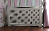 Решетки для батарей отопления из дерева Экран (короб) декоративный PP01-K60 Белый., фото 1