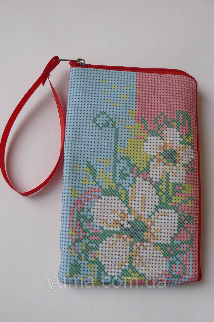 Чехол для мобильного телефона под вышивку бисером 8,5 на 14 см.