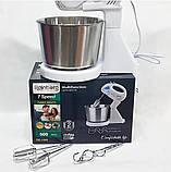 Міксер ручний 7 швидкостей Rainberg RB-1006 з металевої чашею,для кухні,для дому,побутової,для збивання, фото 8