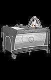 Манеж - кровать Lionelo Flower с пеленатором и дугой, фото 8