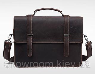 Мужской деловой кожаный портфель Wild Leather (1167)