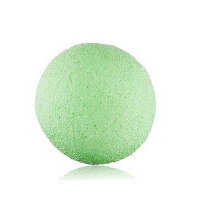 Губки Konjac конняку для умывания, мягкого пиллинга и массажа, зеленная, фото 2