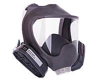 Полнолицевая маска Сталкер-3 VITA с двумя фильтрами А1 в резиновой оправе (аналог 3М 6700, 3М 6800, 3М 6900)