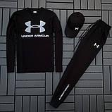 Ander Armour мужской черный спортивный костюм осень-весна!Комплектом дешевле!, фото 5