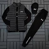 Ander Armour мужской черный спортивный костюм осень-весна!Комплектом дешевле!, фото 8