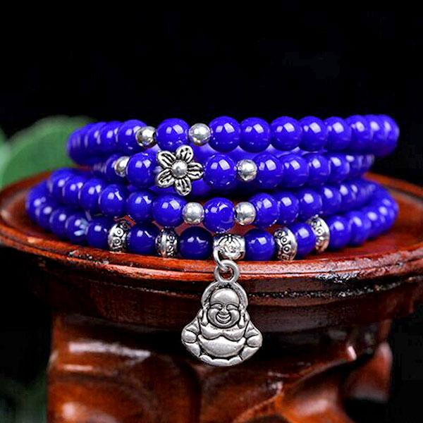 Вервиця - браслет синього кольору