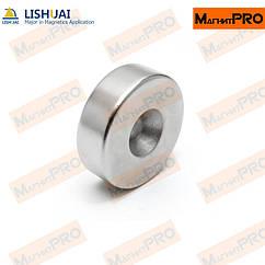 Неодимовый магнитный диск с отверстием под саморез 15x3 мм М4