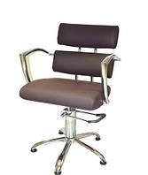 Крісло перукарське коричневе 6513brown