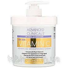 Advanced Clinicals, Осветляющий крем Advanced с витамином C, 16 унций (454 г)