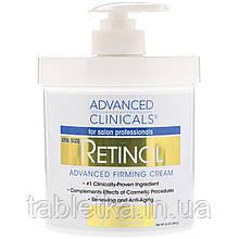 Advanced Clinicals, Retinol, укрепляющий укрепляющий крем, 16 унций (454 г)