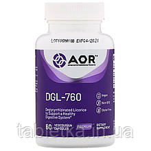 Advanced Orthomolecular Research AOR, DGL-760, 60 Vegetarian Capsules