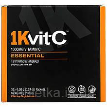 1Kvit-C, ВитаминC, незаменимые питательные вещества, шипучая смесь для напитка, натуральный апельсиновый