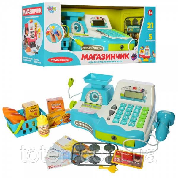 Кассовый аппарат 16 предметов с чеком. Сканер,калькулятор, весы, микрофон, монеты, продукт 7162-2 RU