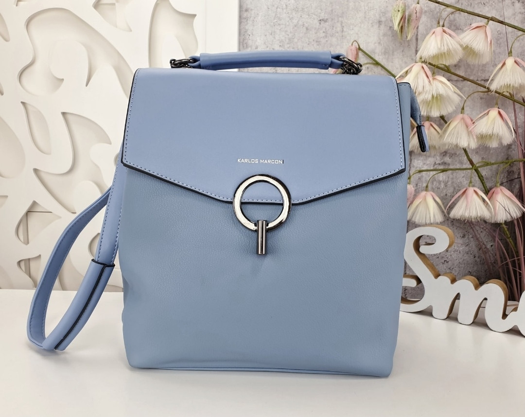 Сумка рюкзак голубая