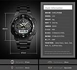 Кварцевые Mилитари часы Skmei 1370 Черный, фото 3