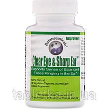 Balanceuticals, Clear Eye & Sharp Ear, 500 mg, 60 Vegetarian Capsules
