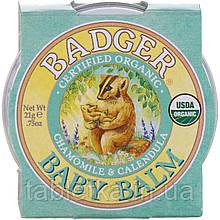 Badger Company, Детский бальзам, ромашка и календула, 21г (0.75унции)