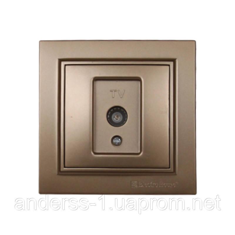 ElectroHouse Розетка телевізійна Розкішно золотий Enzo IP22