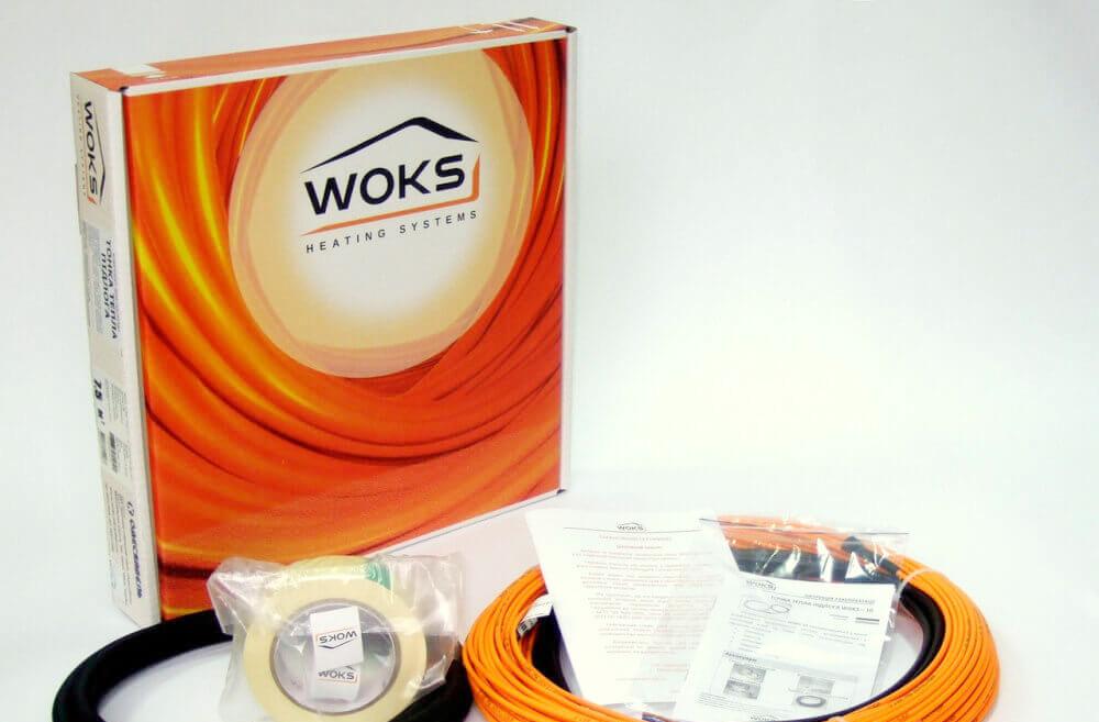 Электрический теплый пол тонкий кабель Woks-10 100 Вт 11м (двухжильный)