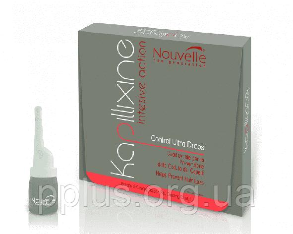 Средство против выпадения волос с экстрактом красного женшеня Nouvelle Ultra Drops 10х7 мл, фото 2