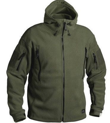 Флисовая кофта с капюшоном Helikon-Tex Patriot Heavy Fleece Jacket-Olive Green XS, S, M, L, XL, XXL, 3XL/regul