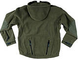 Флисовая кофта с капюшоном Helikon-Tex Patriot Heavy Fleece Jacket-Olive Green XS, S, M, L, XL, XXL, 3XL/regul, фото 6
