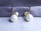 Сережки фірми Xuping з перлами (color 38), фото 2