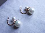 Сережки фірми Xuping з перлами (color 38), фото 3