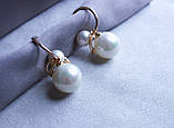 Сережки фірми Xuping з перлами (color 38), фото 4