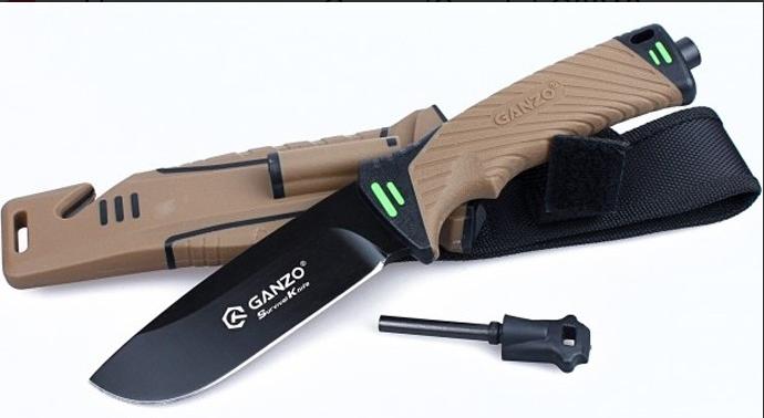 Нож выживания Ganzo (Coyote) G8012