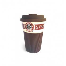 Термокружка Starbucks 350 мл керамическая с резиновым чехлом 9703